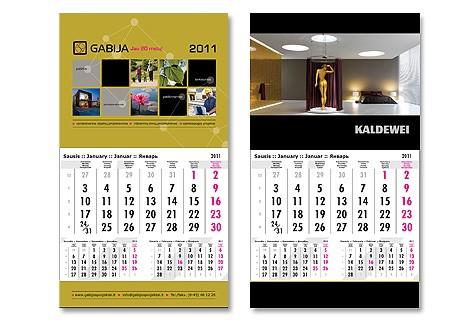 Kalendorių gamyba įmonėms